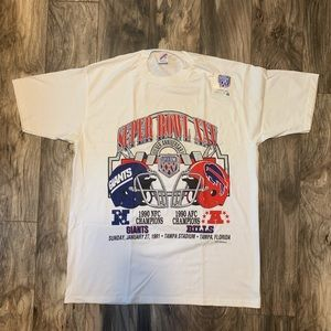 NWT Vintage 90s Mens XL Superbowl XXV T shirt NY